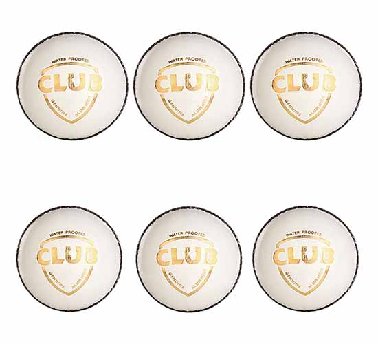 SG Club Leather Cricket Ball (white) 6