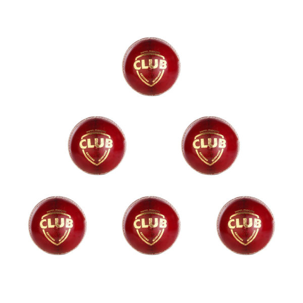 SG Club Leather Ball (Red)1