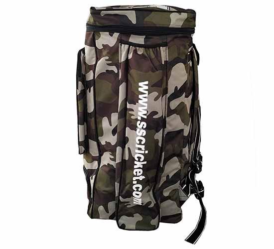 SS Cricket Kit Bag Camo Duffle_GREEN2