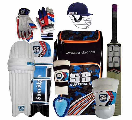 SS Kashmir Willow Cricket Full Kit with Helmet
