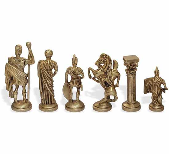 WillCraft Metal Brass Chess Set 3