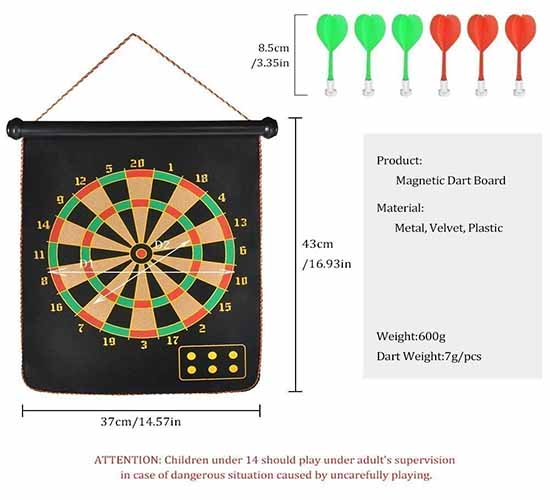 Willcraft Portable Magnetic Dart Game1