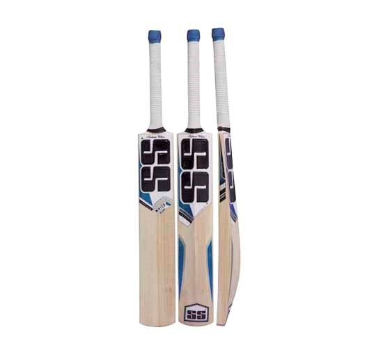 SS White Edition Blue Kashmir Willow Cricket Bat