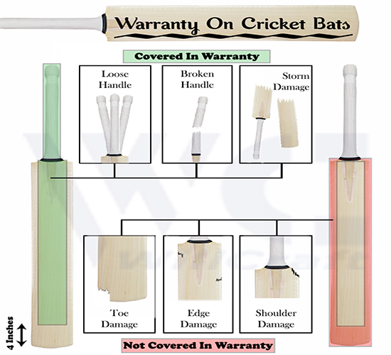 WillCraft Cricket Bat Warranty