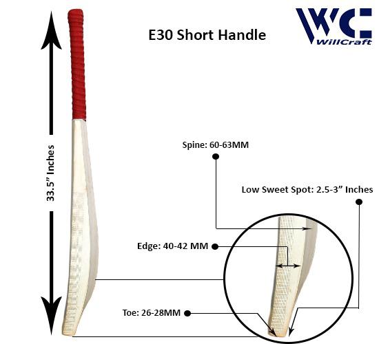 WillCraft E30 English Willow Plain Cricket Bat1_new