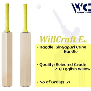 WillCraft E40 English Willow Plain Cricket Bat