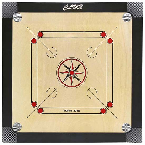 WillCraft Club Wooden Carrom Board 32X32 inches