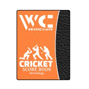 WillCraft Cricket Score Book 40 Innings
