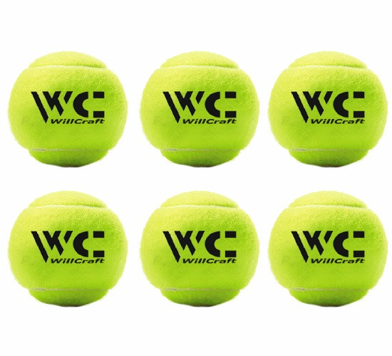 WillCraft Cricket Tennis Ball_Yellow_Pack of 6