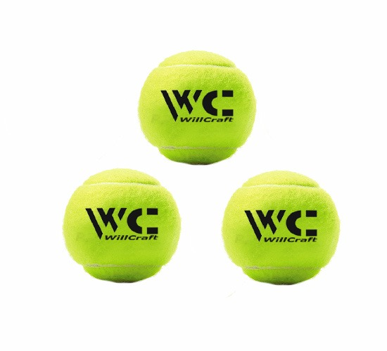 WillCraft Cricket Tennis Ball_Yellow_pack of 3