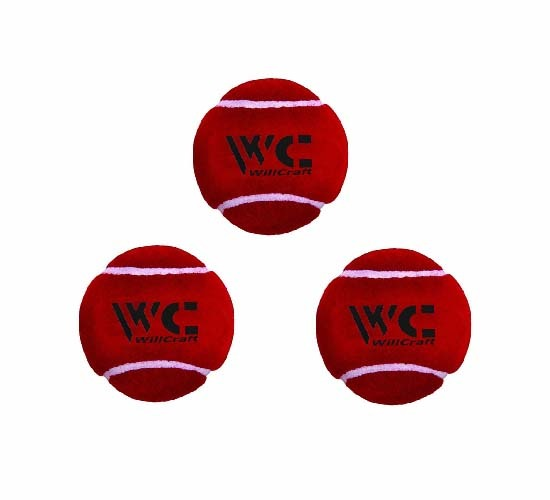 WillCraft cricket Tennis ball Red_pack of 3