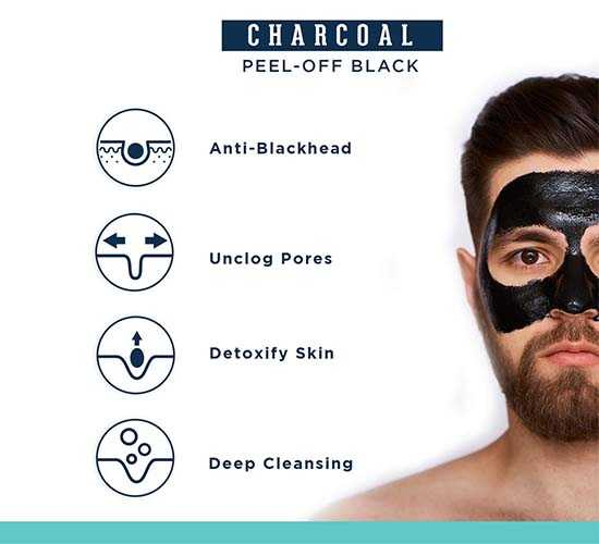 Beardhood Charcoal Peel-Off Mask, 100g 5