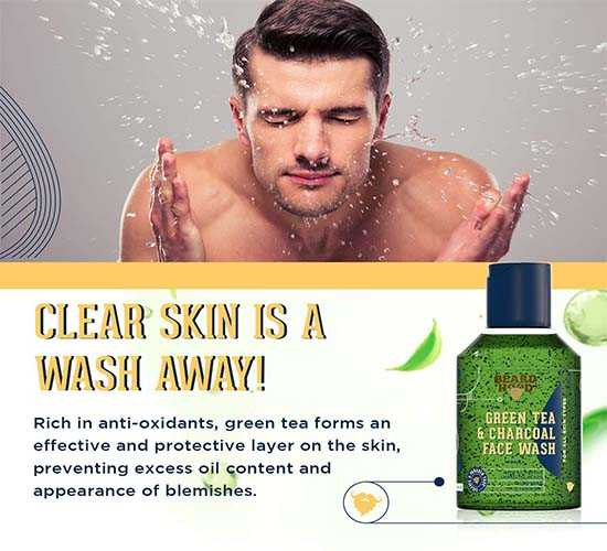 Beardhood Green Tea & Charcoal Face Wash 3
