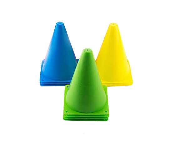 WillCraft Boundary Cone Marker_Pack of 10