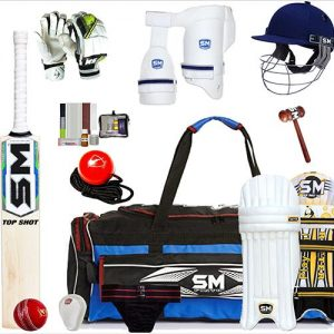 SM English willow cricket kit