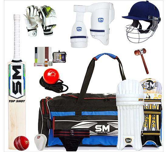 SM English willow cricket kit