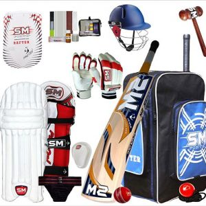 SM kashmir willow cricket kit