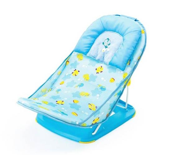 Mastela Deluxe Baby Bather_Aqua (Fish Print)