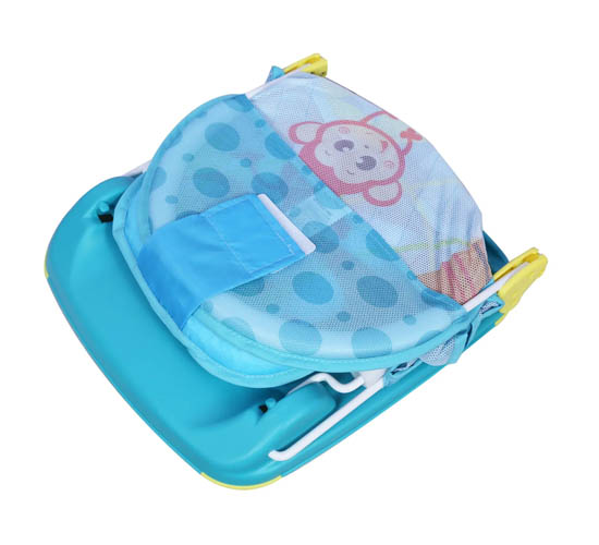 Mastela Deluxe Baby Bather_Light Turquoise (Tortoise Print) 2
