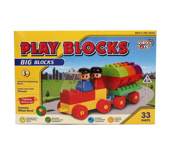 Virgo Toys Play Blocks Highway Vehicle Set_1