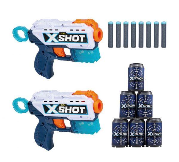 X Shot Excel Double Kickback Dart Blaster Combo_1