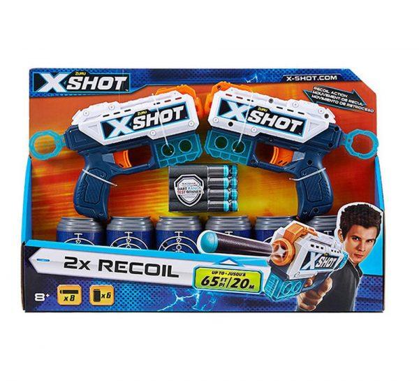 X Shot Excel Double Kickback Dart Blaster Combo_3