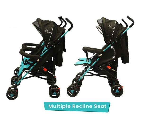R for Rabbit Ginny & Johnny Twin Stroller_BlueBlack 2