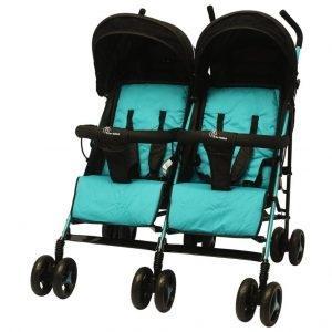 R for Rabbit Ginny & Johnny Twin Stroller_BlueBlack cover