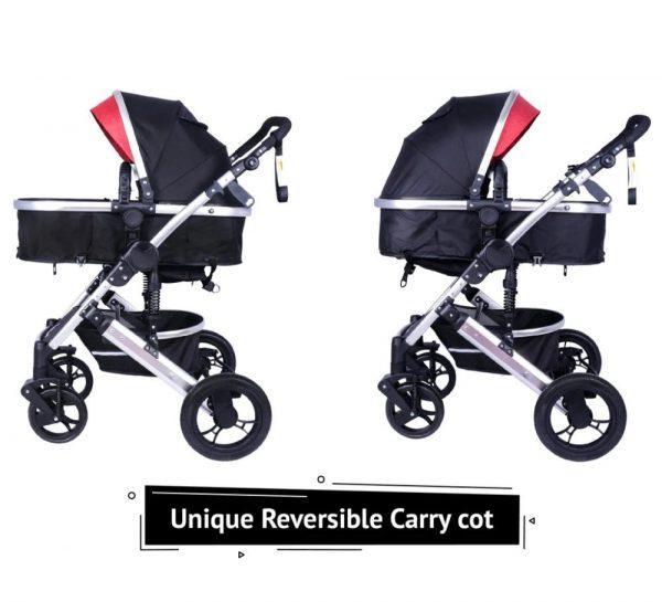 R for Rabbit Hokey Pokey Lite Baby Stroller & Pram_Red 1