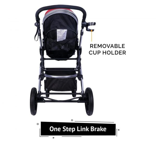 R for Rabbit Hokey Pokey Lite Baby Stroller & Pram_Red 3