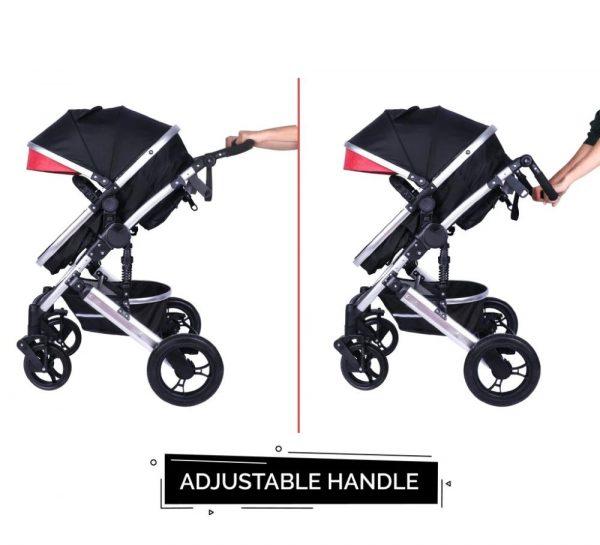 R for Rabbit Hokey Pokey Lite Baby Stroller & Pram_Red 4