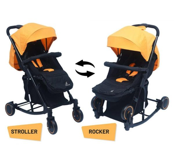 R for Rabbit Rock N Roll Stroller & Pram_Yellow 2