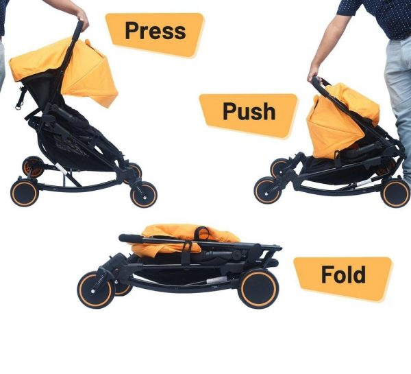 R for Rabbit Rock N Roll Stroller & Pram_Yellow 4