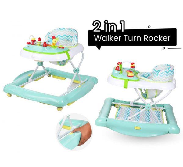 R for Rabbit Rock N Walk Rocking Walker_Green 2