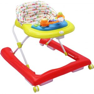 R for Rabbit Zig Zag Anti Fall Safe Baby Walker_RedGreen cover