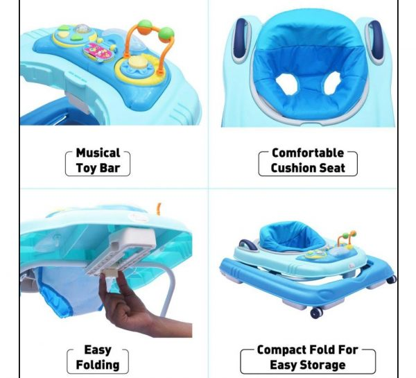 R for Rabbit Zig Zag Grand Anti Fall 3 in 1 Baby Walker_Blue 8