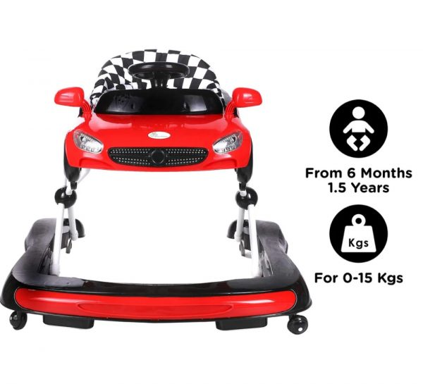 R for Rabbit Zoom Car Baby Walker_Red 6