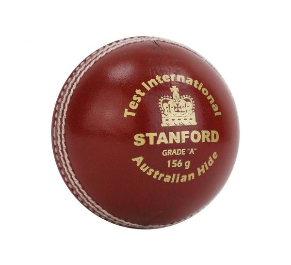 SF Test International Leather Cricket Ball_Red