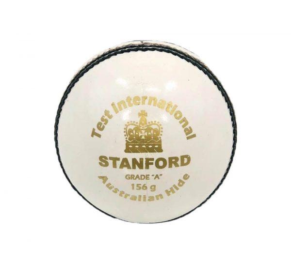 SF Test International Leather Cricket Ball_White