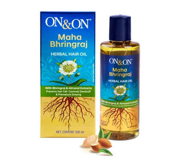 On & On Maha Bhringraj Herbal Hair Oil_cover
