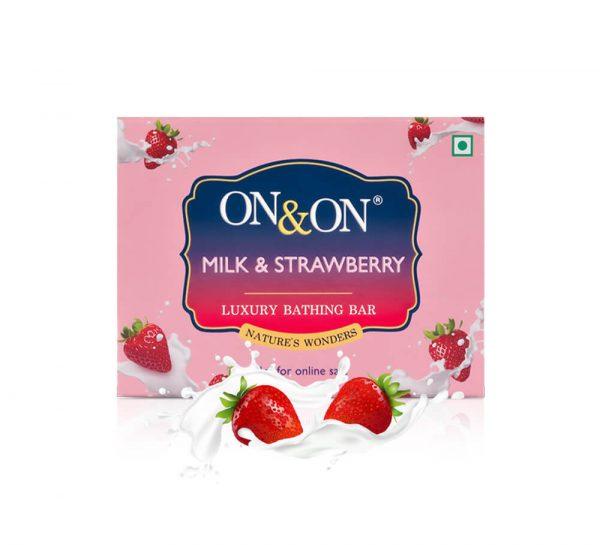 On & On Luxury Soap Bar_Milk&Strawberry