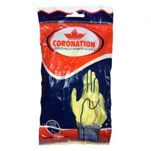Coronation Household Rubber Gloves_Front