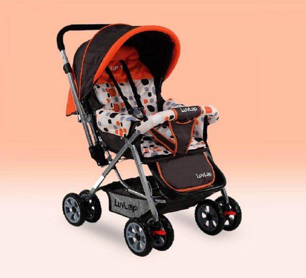 LuvLap Sunshine Baby Stroller Orange