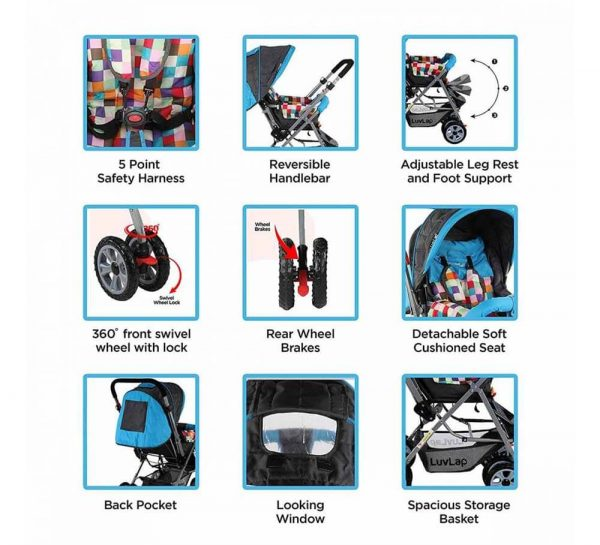 LuvLap Sunshine Baby Stroller Teal_cover2