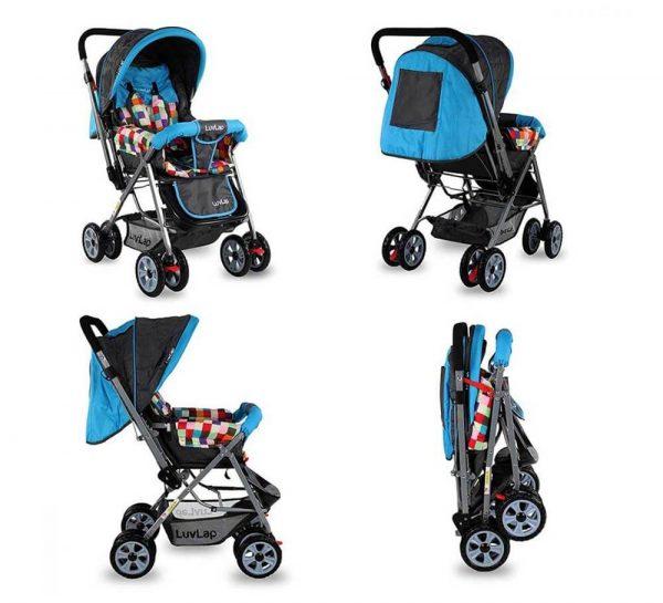 LuvLap Sunshine Baby Stroller Teal_cover3