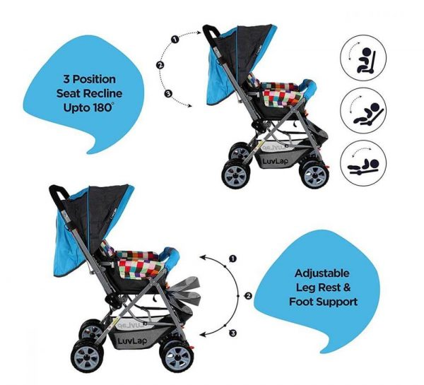LuvLap Sunshine Baby Stroller Teal_cover4